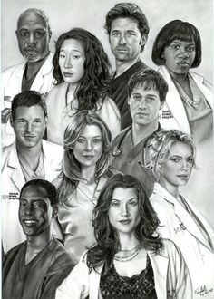 Grey's Anatomy (2005– ) ~~ Drama | Romance ~~ The stories of the interns and residents at the hospital as they try to balance their personal lives with the demands of their medical training. ~~ Artwork by Nienke