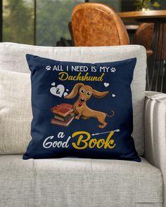 All I Need Is My Dachshund Dog A Good Book Mugs - J Navy dachshund beagle mix, dachshund pillow, dachshund shaming #dachshundsinscotland #dachshundsforever #dachshundsinparadise, dried orange slices, yule decorations, scandinavian christmas Dapple Dachshund Long Haired, Dapple Dachshund Puppy, Dachshund Puppies For Sale, Baby Dachshund, Dachshund Shirt, Dachshund Gifts, Funny Dachshund, Golden Dachshund, Standard Dachshund