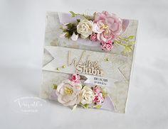 Odskocznia vairatki: Zwiewna i delikatna... Wedding Cards, Scrapbooking, Tutorials, Tableware, Handmade, Wedding Ecards, Dinnerware, Hand Made, Tablewares