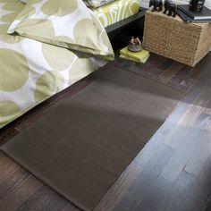 Des tapis en coton lavables en machine