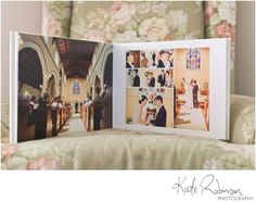 Wedding album layout design (Kate Robinson)