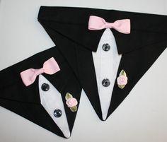 Black Suit Collar Bandana Sz XS S M por happydapperdogs en Etsy Bandana Com  Cão 66a94ac8cd4