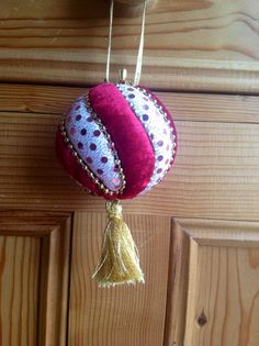 Christmas bauble made from a polystyrene ball
