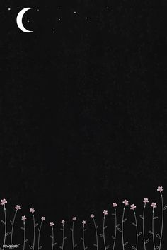 Blooming flowers and Space Phone Wallpaper, Flower Phone Wallpaper, Black Wallpaper Iphone, Homescreen Wallpaper, Iphone Background Wallpaper, Dark Wallpaper, Galaxy Wallpaper, Cartoon Wallpaper, Black Flowers Wallpaper