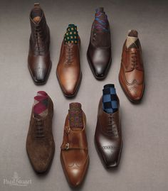 Good pair of shoes and socks. Cool combination between classical vs modern...a really good style.