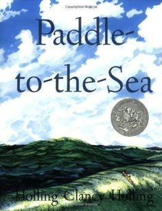 Paddle-to-the-Sea (Sandpiper Books) by Holling C. Holling, http://www.amazon.com/dp/0395292034/ref=cm_sw_r_pi_dp_8iNHpb0TS2YFN