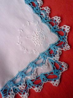 Handkerchief handmade lace crochet and by sincreartDesign on Etsy