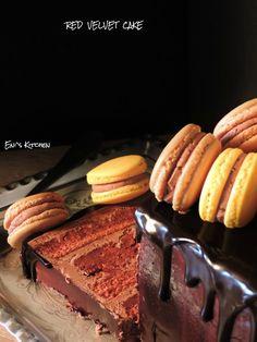 Eni´s Kitchen: Tarta Red Velvet con buttercream de chocolate y gl...