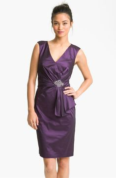 Eliza J Embellished Taffeta Sheath Dress available at #Nordstrom