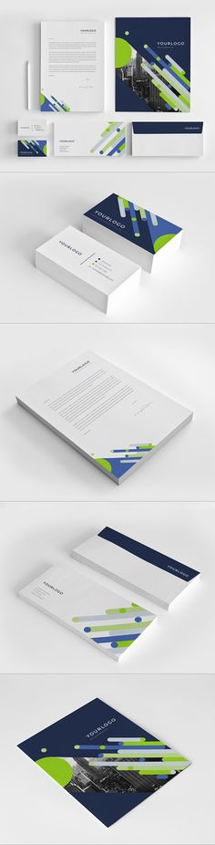 Bright Modern Stationery Pack by Abra Design, via Behance