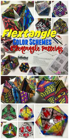 Flextangle STEAM Art Project: Fusing Math and Art, Hexaflexagon , Color Schemes & Pattern, Middle School & High School Art STEAM Lesson - Education and lifestyle 3d Art Projects, Art Education Projects, Art Education Lessons, Math Projects, Education Quotes, Middle School Art Projects, Art School, Middle School Crafts, School Ideas
