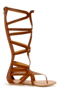 fb7b2a6bd98 Heart Soul Cleopatra Camel Tall Caged Gladiator Sandals