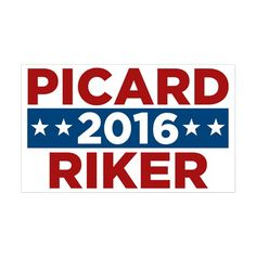 Star Trek Picard Riker 2016 Decal on CafePress.com