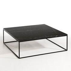 Table basse Romy, plateau marbre