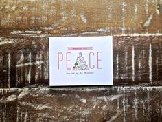 Peace, Holiday Greeting Card- Set of 6
