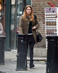 11/29/15.   Princess Beatrice hit the stores in London's trendy Notting Hill as she shopped for Christmas presents