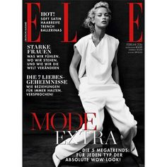 Elle Germany February 2016 Cover ❤ liked on Polyvore featuring magazine cover and magazine
