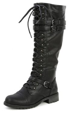 Military Knee High Combat Boots