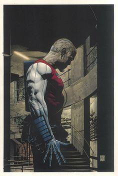 Splash Page Comic Art :: For Sale Artwork :: Deathlok Marvel Millenial Visions Painting by artist Tim Bradstreet