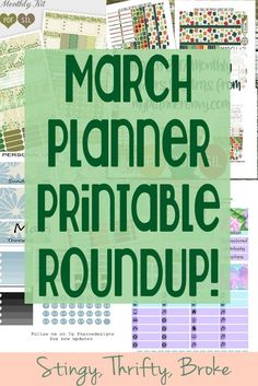 Ready to decorate March? Pick from one of these awesome planner printables!