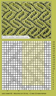 Free Lace chart #1  | Lace knitting stitches
