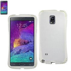 REIKO SAMSUNG GALAXY NOTE 4 DROPPROOF AIR CUSHION CASE WITH CHAIN HOLE IN WHITE