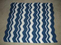 Blue & White Lapghan for Suncoast Hospice.  Dec 2009