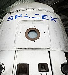 """The Dragon capsule  """"Dragon is a partially reusable spacecraft developed by SpaceX, an American private space transportation company based in Hawthorne, California. Dragon is launched into space by the SpaceX Falcon 9 two-stage-to-orbit launch vehicle"""""""