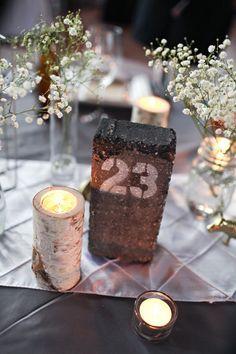 La brique numéro ou nom de table