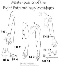 Master points extraordinary meridians