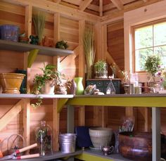 Garden Shed interior from the Empress of Dirt