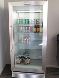 Frigidaire Commercial Grade Fridge with Glass Doors- a little more affordable than the Sub Zero...