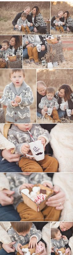 Super cute- would make a fun fall mini session!