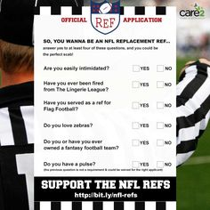 Support the NFL Refs!