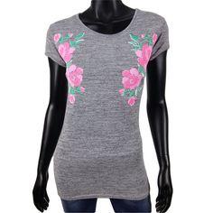 T-shirt met rozen in grijs gemelêerd van Finella  10-  Online: www.dannyschoice.nl  En in de winkel: #Beverwijk   #fashion