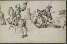 Lotta tra cavalieri. 1489. 19.8x31.1 British Museum.