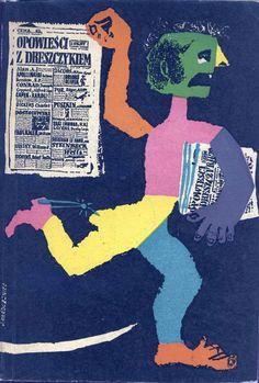 """""""Opowieści z dreszczykiem"""" Selected and edited by Wojciech Żukowski and Tadeusz Adrian Malanowski Cover by Jan Młodożeniec (Mlodozeniec) Published by Wydawnictwo Iskry 1957"""