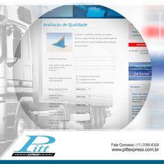 Não deixe de avaliar a qualidade dos nossos serviços. No link abaixo você pode deixar a sua opinião. Clica aí! http://www.pittexpress.com.br/avaliacao-pitt-express.php