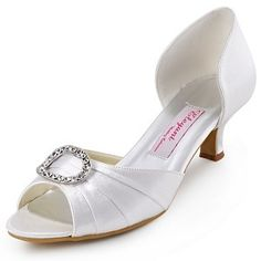 "Aliexpress.com : Buy A2136 Blue White Burgundy Women Pumps Peep Toe Rhinestone Two Piece 2"" Spool Heel Satin Evening Brand Shoes from Reliable shoe pets suppliers on Elegantpark"