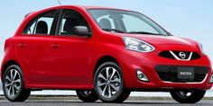 Nissan Micra in Red