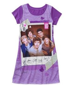 ONE DIRECTION 1D Purple Nightgown PAJAMAS Girl's 10/12 NeW Pjs Harry Louis Liam #1D #Nightgown