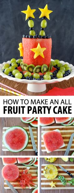 How to make an all fruit party cake