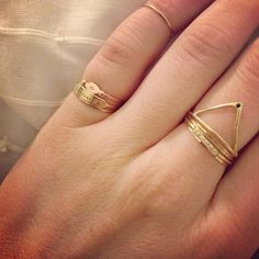 Odette Klaia Ring with black diamond .. topping catbird @coco__'s pretty stacks