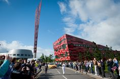 The torch makes its way through Jubilee Campus Nottingham, Olympics, Times Square, Travel, Viajes, Destinations, Traveling, Trips, Tourism