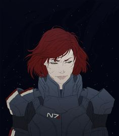 """kovlowski: """"femshep for this request: sorry, anon the requests being open was for fanarts only! but hey, have a sci-fi redhead, and best of luck for your writing """" Mass Effect Garrus, Mass Effect 1, Mass Effect Universe, Final Fantasy Anime, Mass Effect Cosplay, Mass Effect Characters, Aliens, Character Inspiration, Character Design"""