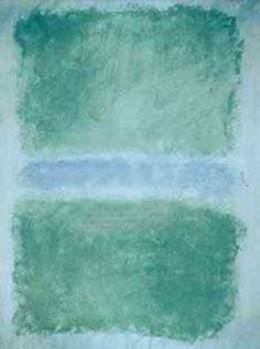 Reproduction art: Mark Rothko Oil Painting - Green Divided by Blue 1968