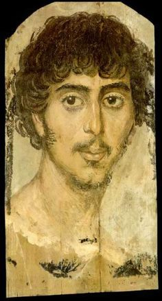roman portrait painting | Funerary Portrait Painting of a Young Man from the Roman Period 3