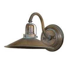 Lustrarte D Avo 9.84-in W 1-Light Antique Green Arm Hardwired Wall Sconce   $198  Lowe's
