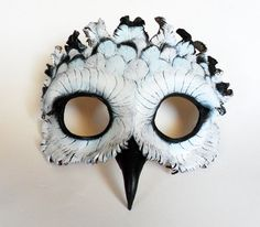 This is a pretty cool mask! Imagine this on the stage! Snowy Owl Leather Mask - Libertini Leather Accessories