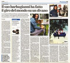 L'Arena di Verona - Manolo Bossi / Design Studio - The oldest newspaper of Italy talks about what I do. Today!